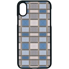 Abstract Seamless Fabric Blue Apple Iphone Xs Seamless Case (black)