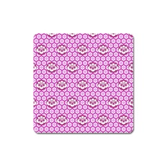 Paulownia Flowers Japanese Style Square Magnet by Pakrebo
