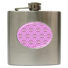 Paulownia Flowers Japanese Style Hip Flask (6 Oz) by Pakrebo