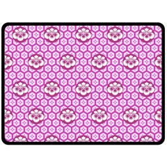 Paulownia Flowers Japanese Style Fleece Blanket (large)  by Pakrebo