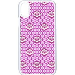 Paulownia Flowers Japanese Style Apple Iphone X Seamless Case (white)