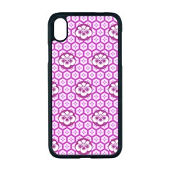 Paulownia Flowers Japanese Style Apple Iphone Xr Seamless Case (black)