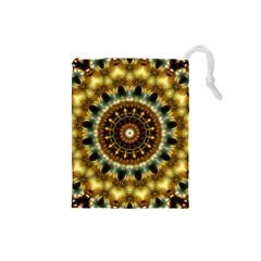Pattern Abstract Background Art Drawstring Pouch (small)
