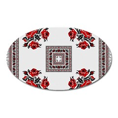 Ornament Pattern Background Design Oval Magnet by Pakrebo