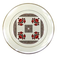 Ornament Pattern Background Design Porcelain Plates by Pakrebo