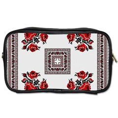 Ornament Pattern Background Design Toiletries Bag (two Sides)