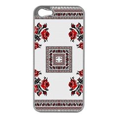 Ornament Pattern Background Design Apple Iphone 5 Case (silver) by Pakrebo