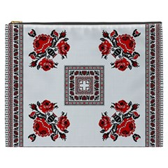 Ornament Pattern Background Design Cosmetic Bag (xxxl)