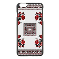 Ornament Pattern Background Design Apple Iphone 6 Plus/6s Plus Black Enamel Case by Pakrebo