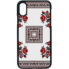 Ornament Pattern Background Design Apple Iphone Xs Seamless Case (black) by Pakrebo