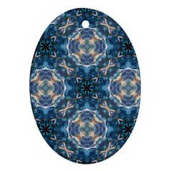 Graphic Pattern Bubble Wrap Bubbles Oval Ornament (two Sides)
