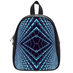 Sci Fi Texture Futuristic Design School Bag (small)