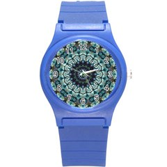 Pattern Abstract Background Art Round Plastic Sport Watch (s)