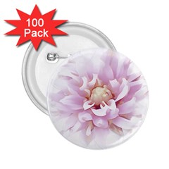 Abstract Transparent Image Flower 2 25  Buttons (100 Pack)