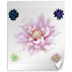 Abstract Transparent Image Flower Canvas 16  X 20