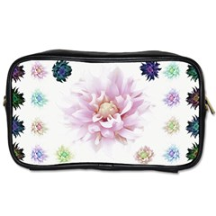 Abstract Transparent Image Flower Toiletries Bag (one Side)