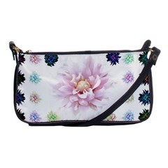 Abstract Transparent Image Flower Shoulder Clutch Bag