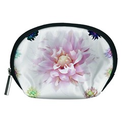Abstract Transparent Image Flower Accessory Pouch (medium)