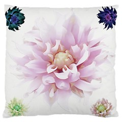 Abstract Transparent Image Flower Standard Flano Cushion Case (one Side)