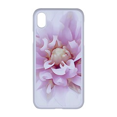 Abstract Transparent Image Flower Apple Iphone Xr Seamless Case (white)