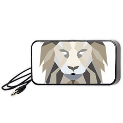 Polygonal Low Poly Lion Feline Portable Speaker