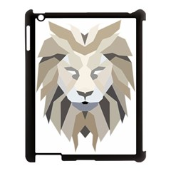 Polygonal Low Poly Lion Feline Apple Ipad 3/4 Case (black)