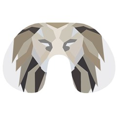 Polygonal Low Poly Lion Feline Travel Neck Pillows
