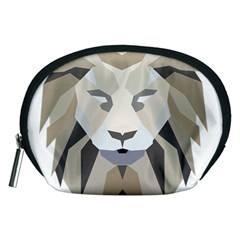 Polygonal Low Poly Lion Feline Accessory Pouch (medium)
