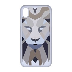 Polygonal Low Poly Lion Feline Apple Iphone Xr Seamless Case (white)