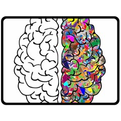 Brain Mind A I Ai Anatomy Fleece Blanket (large)  by Pakrebo