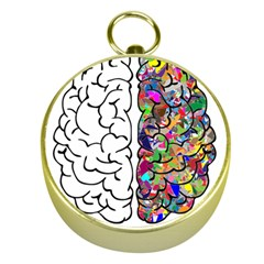 Brain Mind A I Ai Anatomy Gold Compasses by Pakrebo