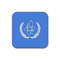 Flag Of Iaea Rubber Coaster (square)  by abbeyz71
