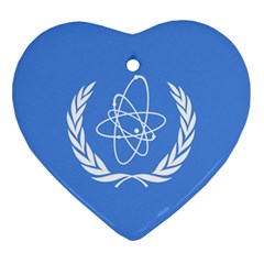 Flag Of Iaea Ornament (heart)