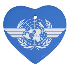 Flag Of Icao Heart Ornament (two Sides)