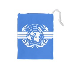 Flag Of Icao Drawstring Pouch (medium) by abbeyz71