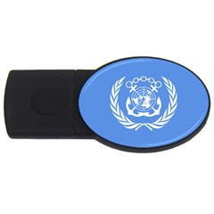 Flag Of International Maritime Organization Usb Flash Drive Oval (4 Gb)