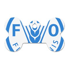 Logo Of Food And Agriculture Organization Dog Tag Bone (two Sides)