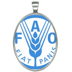 Logo Of Food And Agriculture Organization Oval Necklace by abbeyz71