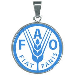 Logo Of Food And Agriculture Organization 30mm Round Necklace