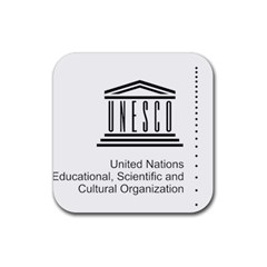 Logo Of Unesco Rubber Coaster (square)  by abbeyz71