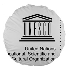 Logo Of Unesco Large 18  Premium Round Cushions