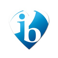 International Baccalaureate Logo Heart Magnet by abbeyz71