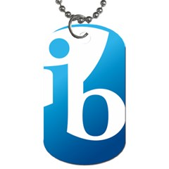 International Baccalaureate Logo Dog Tag (one Side)