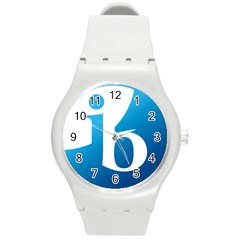 International Baccalaureate Logo Round Plastic Sport Watch (m) by abbeyz71