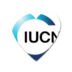 Logo Of International Union For Conservation Of Nature Heart Magnet by abbeyz71
