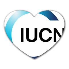 Logo Of International Union For Conservation Of Nature Heart Mousepads