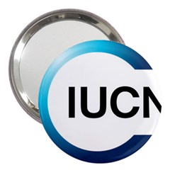 Logo Of International Union For Conservation Of Nature 3  Handbag Mirrors