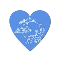 Flag Of Universal Postal Union Heart Magnet by abbeyz71