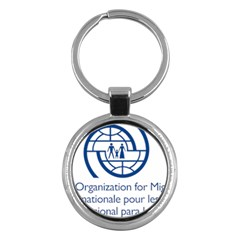 Logo Of International Organization For Migration Key Chains (round)  by abbeyz71