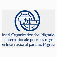 Logo Of International Organization For Migration Large Glasses Cloth by abbeyz71